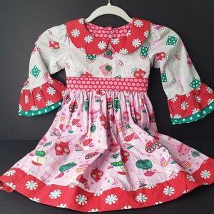 Jelly the Pug Noel Chloe Dress Size 6x